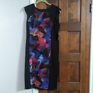 Black & multicolor London Times dress sz 8